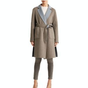 Lauren Ralph Lauren Reversible Wool Blend Pea Coat